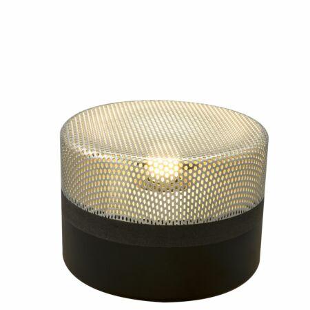 Steel Drop tafellamp Pulpo 15 chroom/zwart