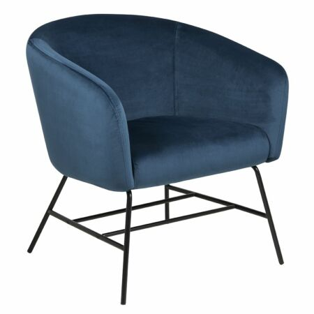 Dierick fauteuil Liv donkerblauw