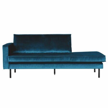 Rodeo chaise longue BePureHome links velvet blauw
