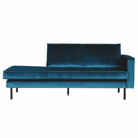 Rodeo chaise longue BePureHome rechts velvet blauw