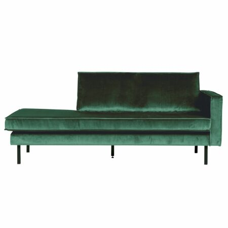 Rodeo chaise longue BePureHome rechts velvet forest green