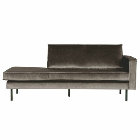 Rodeo chaise longue BePureHome rechts velvet taupe