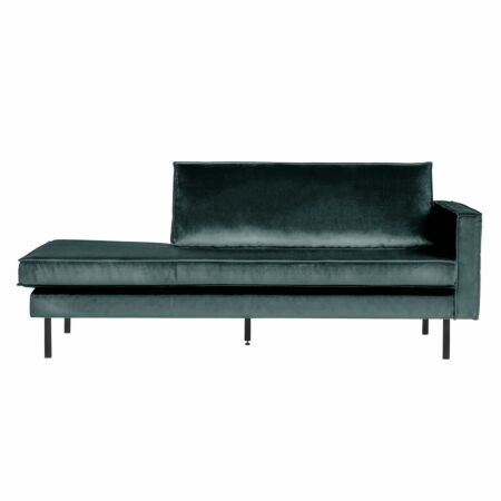 Rodeo chaise longue BePureHome rechts velvet teal