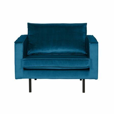 Rodeo fauteuil BePureHome velvet blauw