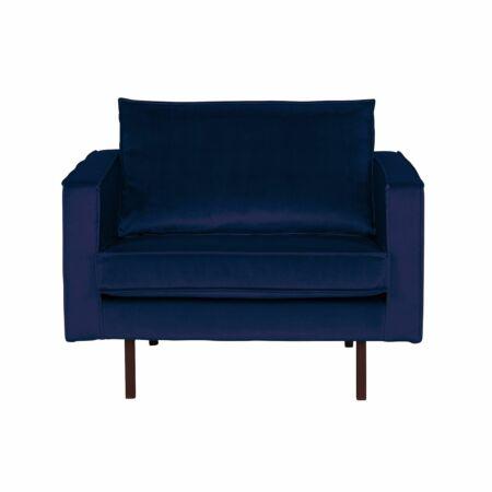 Rodeo fauteuil BePureHome velvet donkerblauw