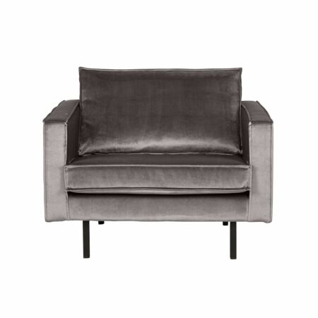 Rodeo fauteuil BePureHome velvet taupe