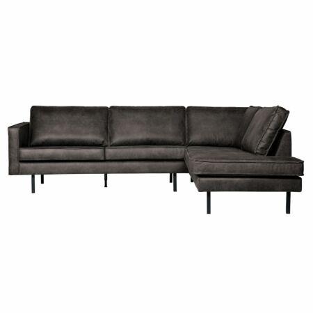 Rodeo loungebank BePureHome rechts 266cm zwart
