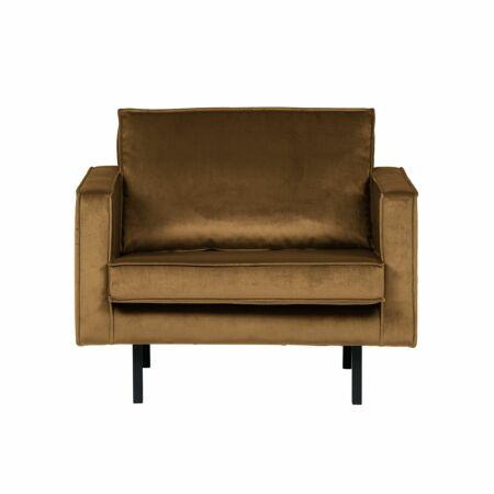 Rodeo fauteuil BePureHome velvet honinggeel