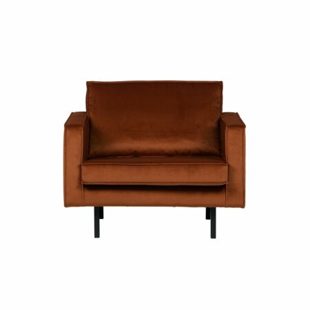 Rodeo fauteuil BePureHome velvet roest