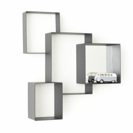 Cloud Cabinet boekenplank Frederik Roijé donkergrijs met spiegel
