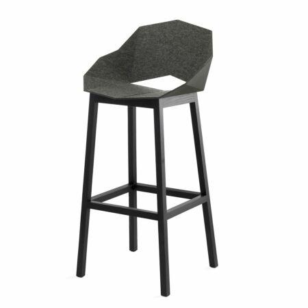 Seatshell barkruk Frederik Roijé donkergrijs - vilt