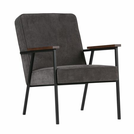 Sally fauteuil Woood antraciet