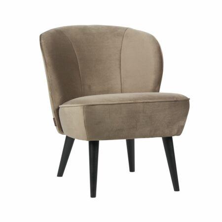 Sara fauteuil Woood olijfgoud