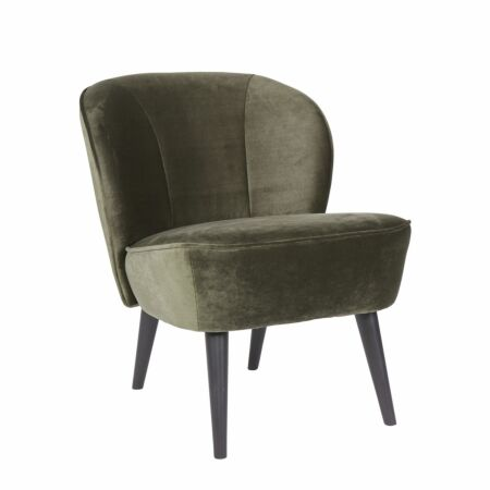 Sara fauteuil Woood warm groen