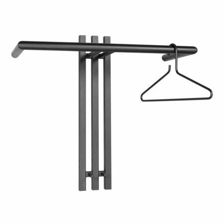 Senza 1 wandkapstok Spinder Design zwart