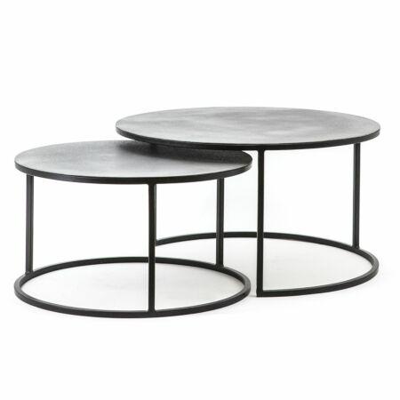 Setto salontafel By-Boo zilver set van 2