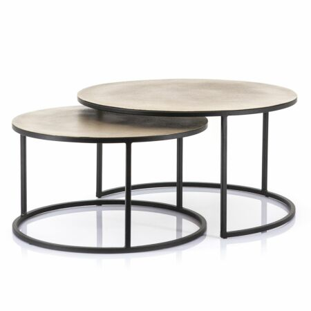 Setto salontafel By-Boo messing set van 2