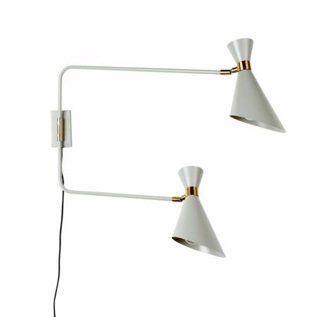 Double Shady wandlamp Zuiver grijs