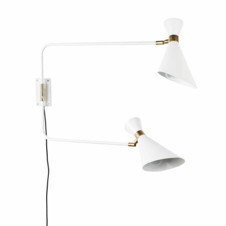 Double Shady wandlamp Zuiver wit
