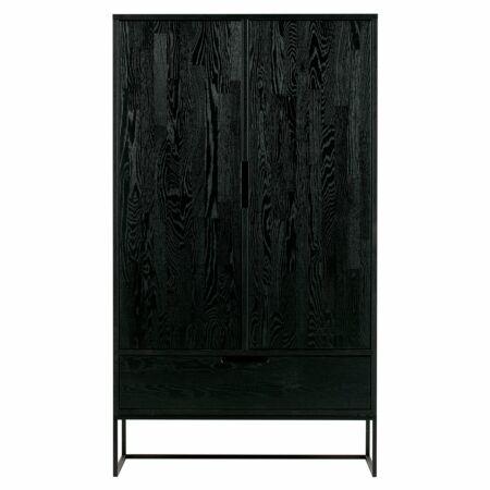 Silas kledingkast Woood Exclusive 2-deurs Black Night