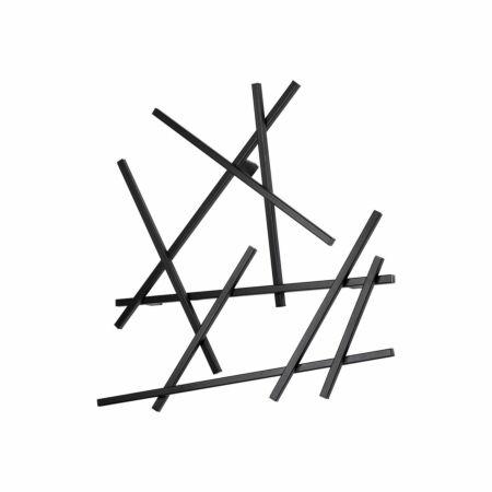 Matches wandkapstok Spinder Design XS zwart