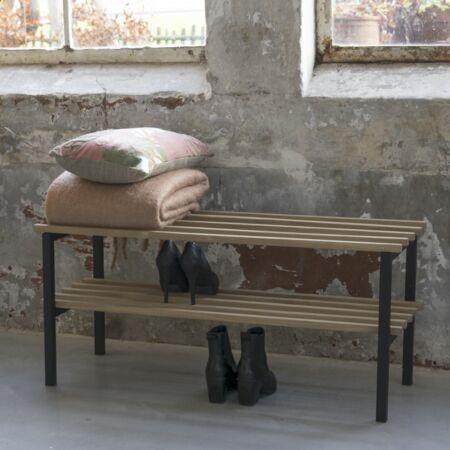 Rizzoli zitbank - schoenenrek Spinder Design - zwart