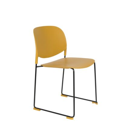 Stacks eetkamerstoel Luzo - Oker geel