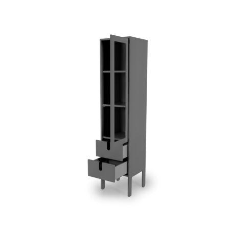 Uno vitrinekast Tenzo - 1D2L - grijs