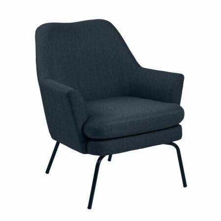 Terpol fauteuil Liv zwart - corsica donkerblauw