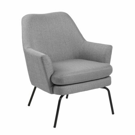 Terpol fauteuil Liv zwart - lichtgrijs