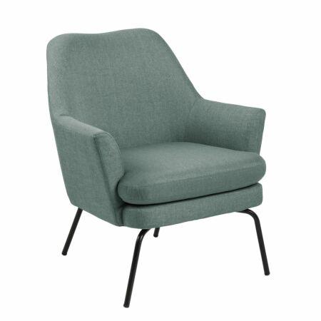 Terpol fauteuil Liv zwart - dusty olive