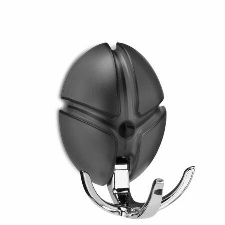 Tick wandkapstok Spinder Design chroom - zwart