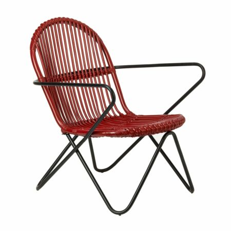 Timor fauteuil Pols Potten rood
