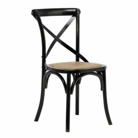 Vintage eetkamerstoel Interstil zwart