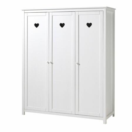 Amori kledingkast Vipack - 3-deurs - wit