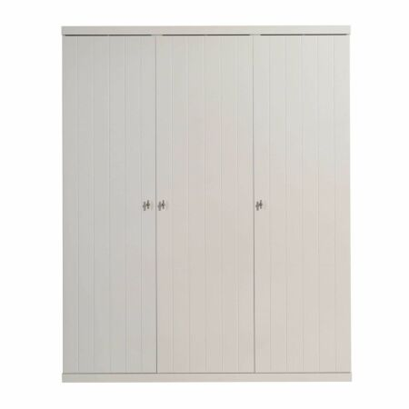 Robin kledingkast Vipack - 3-deurs - wit