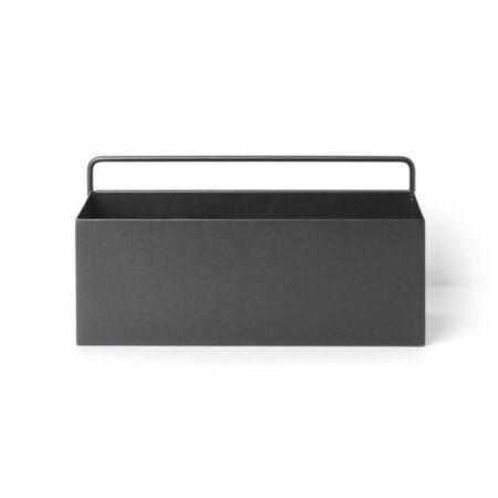 Wall Box plantenbak Ferm Living rechthoek zwart