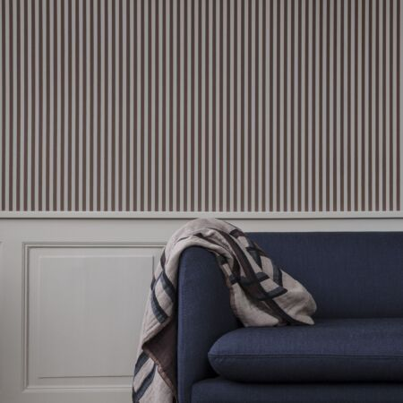 Thin Lines behang Ferm Living groen - off white