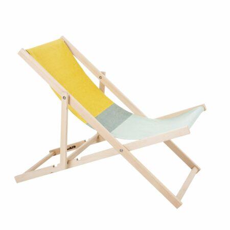 Beach Chair tuinstoel Weltevree geel - groen