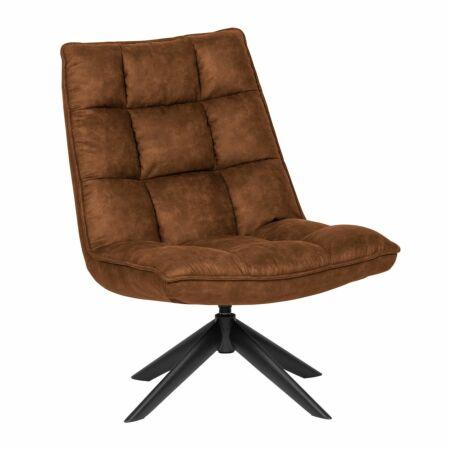 Jouke fauteuil Woood cognac