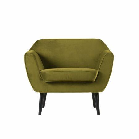 Rocco fauteuil Woood olijfgroen