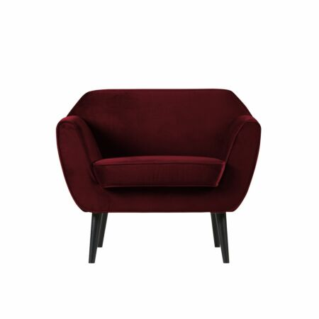 Rocco fauteuil Woood rood