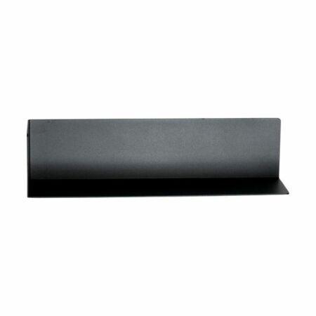 Matt wandplank Spinder Design zwart