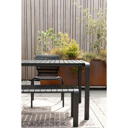 Vondel tuinbank Zuiver - Zwart 129,5cm