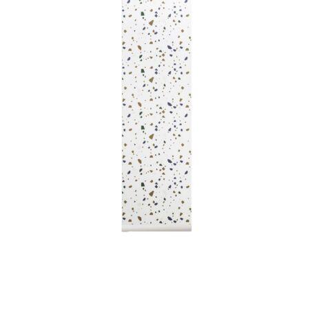 Terrazzo behang Ferm Living - Grey