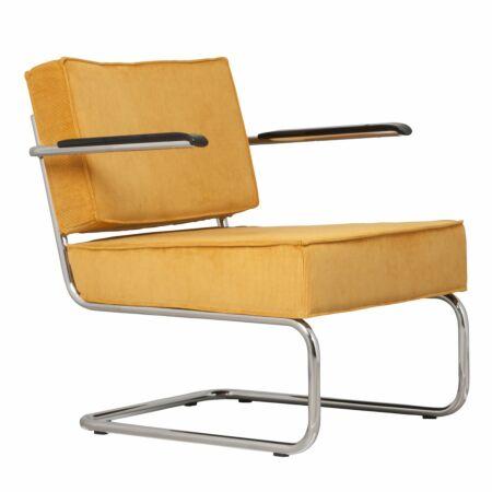 Ridge fauteuil Zuiver arm geel
