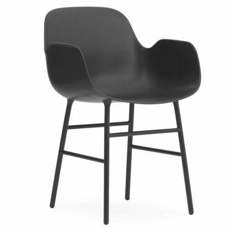 Form Armchair stoel Normann Copenhagen zwart