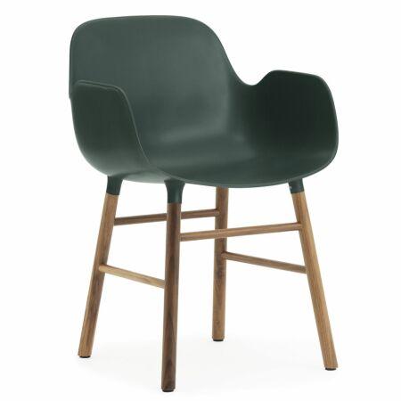 Form Armchair stoel Normann Copenhagen walnoot - groen