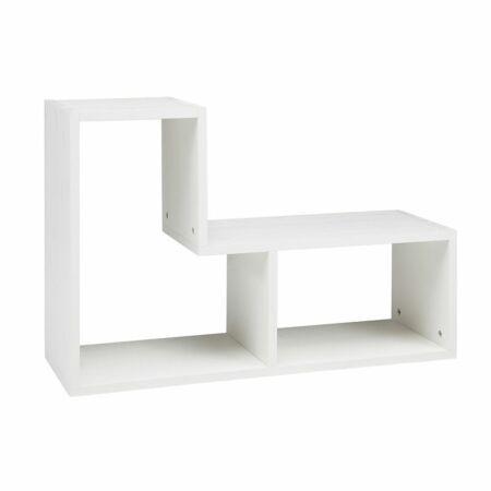 Tetris stapelkast Woood wit geborsteld