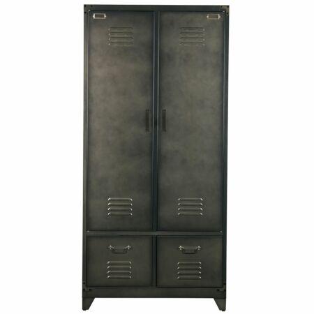 Lockerkast 2-deurs VTwonen zwart